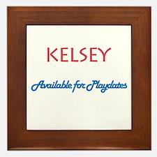 Kelsey - Available For Playda Framed Tile