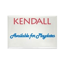 Kendall - Available For Playd Rectangle Magnet (10