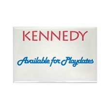 Kennedy - Available For Playd Rectangle Magnet (10