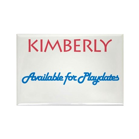Kimberly - Available For Play Rectangle Magnet (10