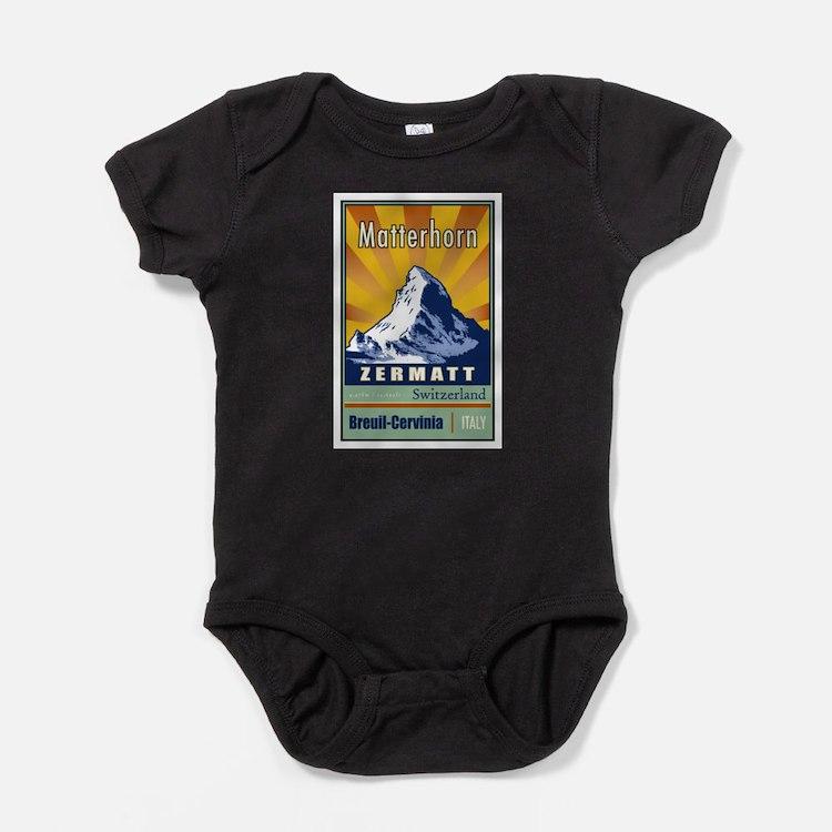 Cute Switzerland Baby Bodysuit