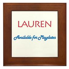 Lauren - Available For Playda Framed Tile
