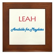 Leah - Available For Playdate Framed Tile