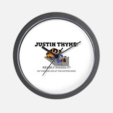 JUSTIN THYME! - NEARLY MISSED IT - NO T Wall Clock