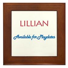 Lillian - Available For Playd Framed Tile
