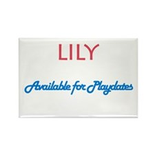 Lily - Available For Playdate Rectangle Magnet (10