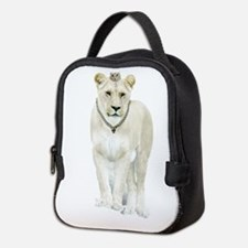 White Lioness Neoprene Lunch Bag