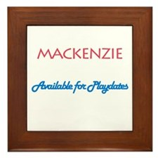 Mackenzie - Available For Pla Framed Tile