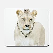 White Lioness Mousepad