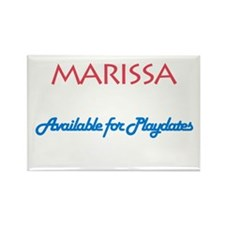 Marissa - Available For Playd Rectangle Magnet (10