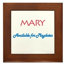 Mary - Available For Playdate Framed Tile