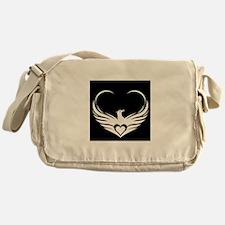 Logo (black and white) Messenger Bag
