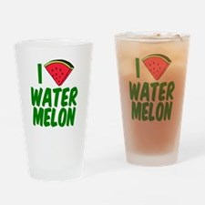 Watermelon Love Drinking Glass