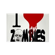 I Love Zombies Magnets