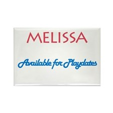 Melissa - Available For Playd Rectangle Magnet (10
