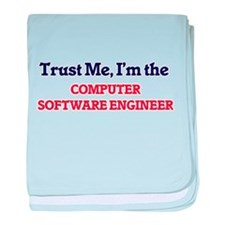 Trust me, I'm the Computer Software E baby blanket