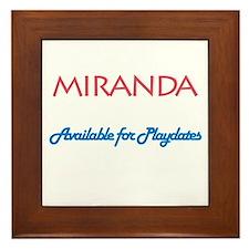 Miranda - Available For Playd Framed Tile