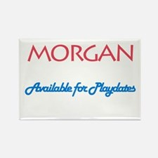 Morgan - Available For Playda Rectangle Magnet (10