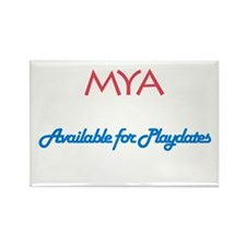 Mya - Available For Playdates Rectangle Magnet (10