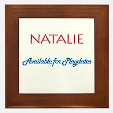 Natalie - Available For Playd Framed Tile