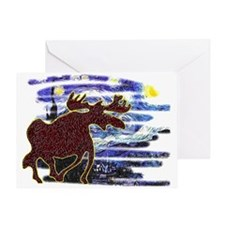 Starry Starry Moose Greeting Card