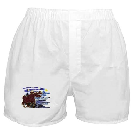 Starry Starry Moose Boxer Shorts