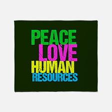 Peace Love HR Throw Blanket