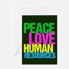 Peace Love HR Greeting Card