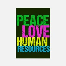 Peace Love HR Rectangle Magnet