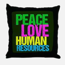 Peace Love HR Throw Pillow