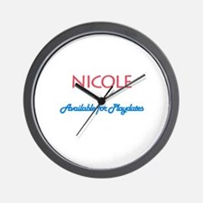 Nicole - Available For Playda Wall Clock
