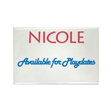 Nicole - Available For Playda Rectangle Magnet (10