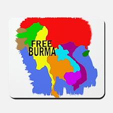 Burma Map Mousepad