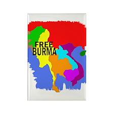 Burma Map Rectangle Magnet