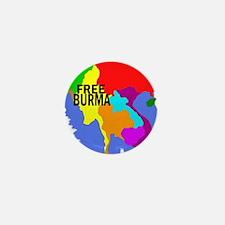 Burma Map Mini Button