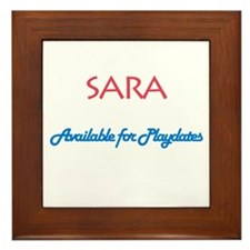 Sara - Available For Playdate Framed Tile