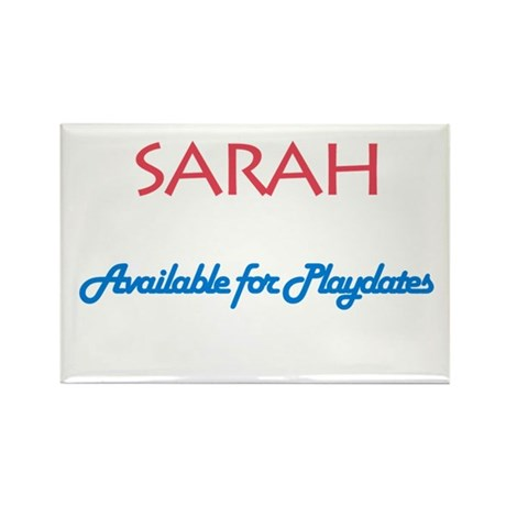 Sarah - Available For Playdat Rectangle Magnet (10