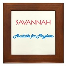 Savannah - Available For Play Framed Tile