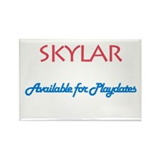 Skylar - Available For Playda Rectangle Magnet (10