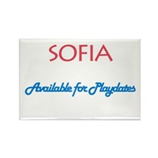 Sofia - Available For Playdat Rectangle Magnet (10