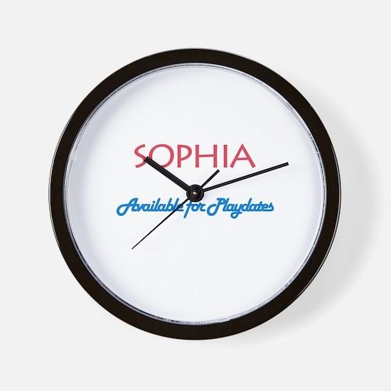 Sophia - Available For Playda Wall Clock