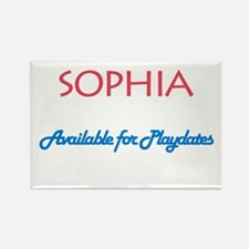 Sophia - Available For Playda Rectangle Magnet (10