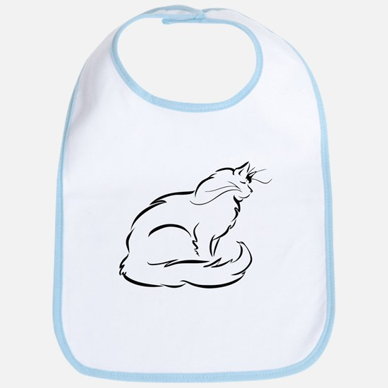 Peaceful Longhaired Cat Bib