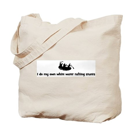 White Water Rafting stunts Tote Bag
