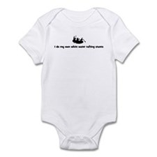 White Water Rafting stunts Infant Bodysuit
