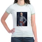 Robert E. Lee - Civil War Jr. Ringer T-shirt