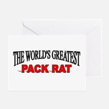 """""""The World's Greatest Pack Rat"""" Greeting Card"""