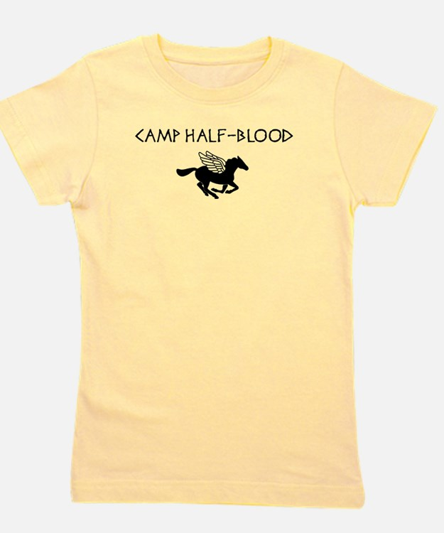 Cute Camp half blood orange Girl's Tee