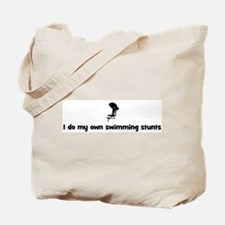 Swimming stunts Tote Bag