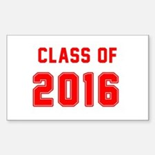 Red Class of 2016 Decal